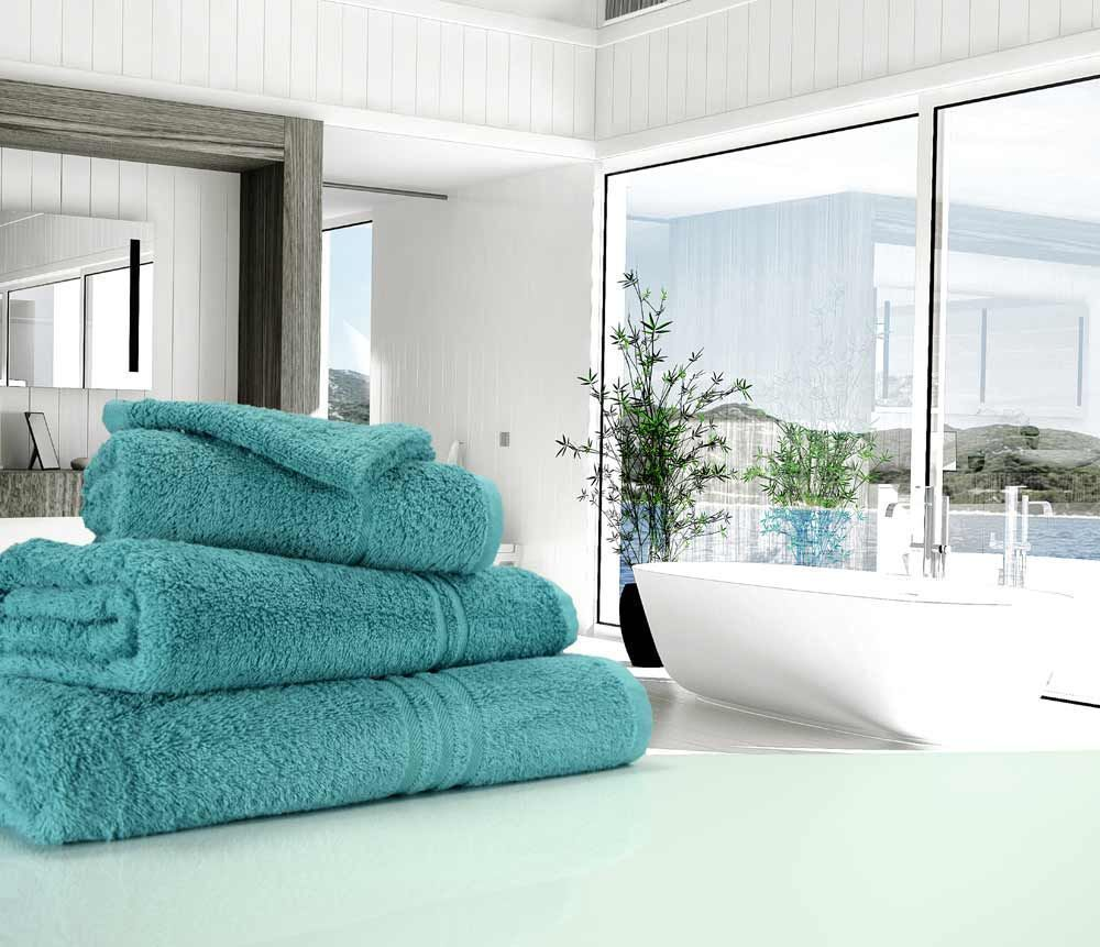 Great Quality Blue Label 500gsm Bath Towel In Teal