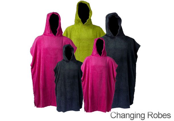 Bana Kuru changing robes. Ideal for getting dryed and changed outdoors but keeping your modesty. Available in a choice of colours. Children's sizes also available.